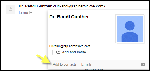 Add to Gmail Contact List