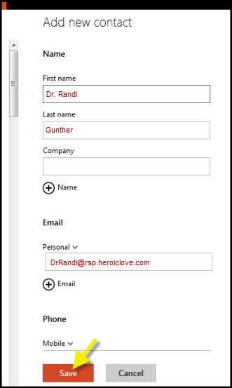 Outlook.com Safe Senders